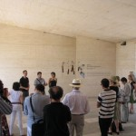 Opening in the entrance of the foundation, Pau Waelder speaking about the project