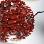 Medium circuit board with red capacitors